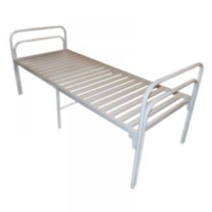 Кровать больничная 104.13 с металлической рейкой и опорой по центру