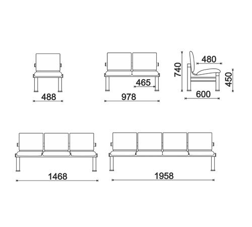 Многоместная секция для приемных отделений КС-108