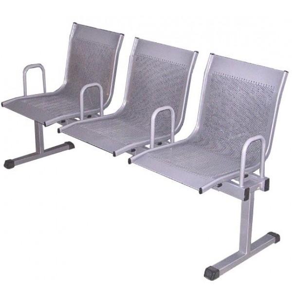 Секция стульев перфорированная на металлическом каркасе