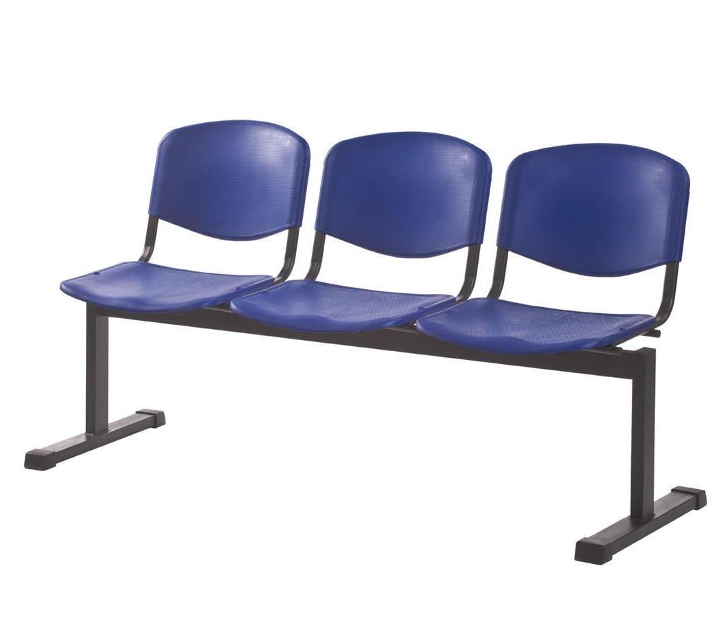 Секция стульев с пластмассовыми сидениями СС-82/3