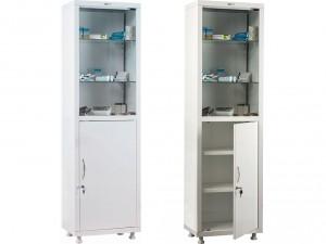 Шкаф медицинский металлический для инструментов Н203-01s со стеклом