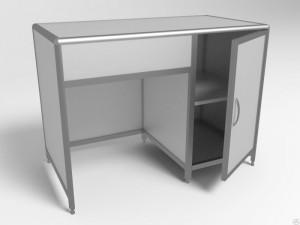 Стол лабораторный пластиковый СЛаб -1/04 с дверкой