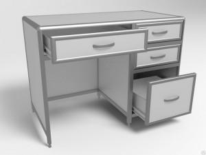 Стол лабораторный СЛаб -1/06 с 4  выдвижными ящиками