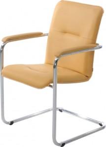 Кресло София на конференц основе с мягкими подлокотниками