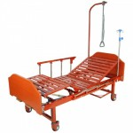 Кровать 2х секционная для лежачих пациентов Е-14В спинки ЛДСП