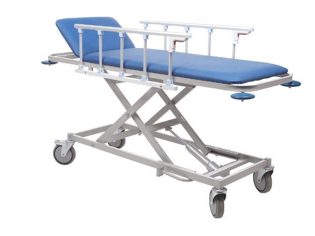 Тележка для пациентов мягкая П-ТБ-01 с гидроприводом