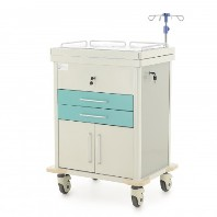 minStolik instrumental'nyj anesteziologa MM-ET-016 s razdvizhnoj stoleshnicej